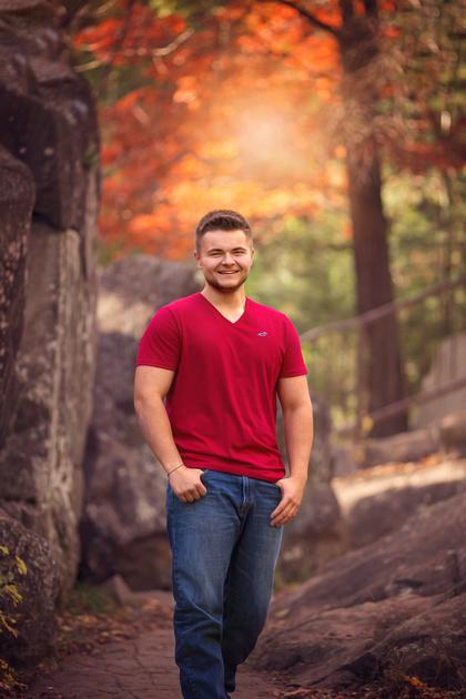 Senior Boy photos in the Fall