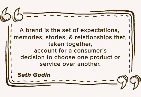 A quote about personal branding by Seth Godin