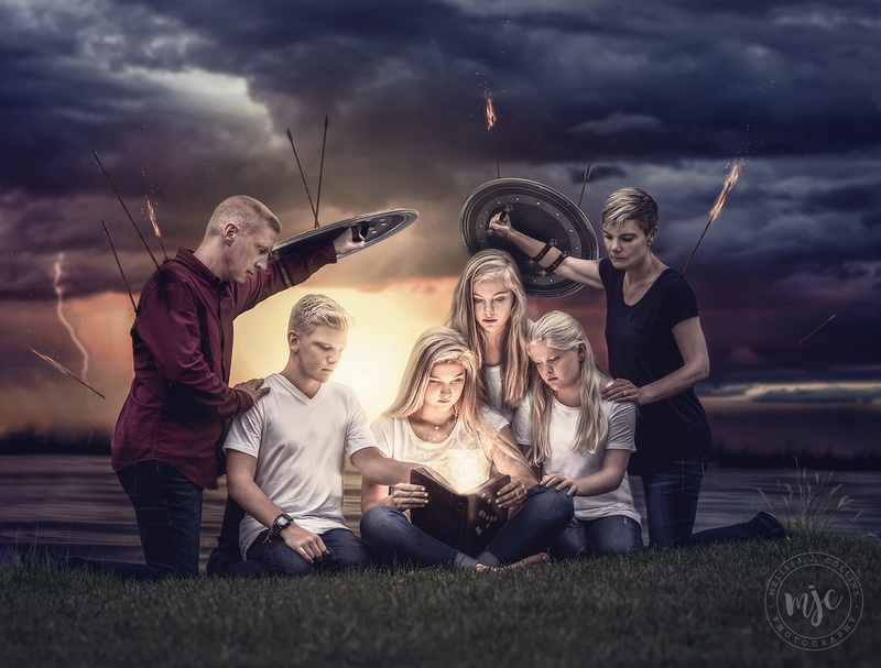 Ephesians 6:16 - custom family art portrait