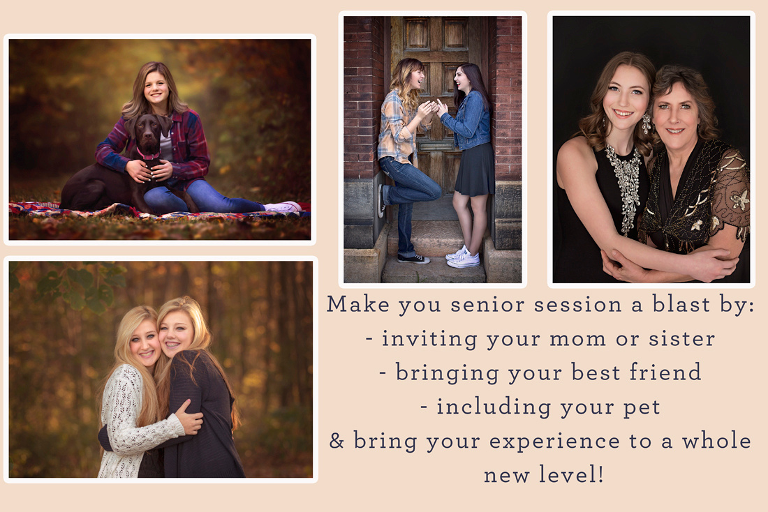 Who would you like to bring with you for your senior portraits to make it even more fun!?
