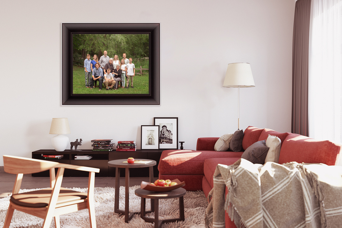 Your family is the best art you can hang on your wall!
