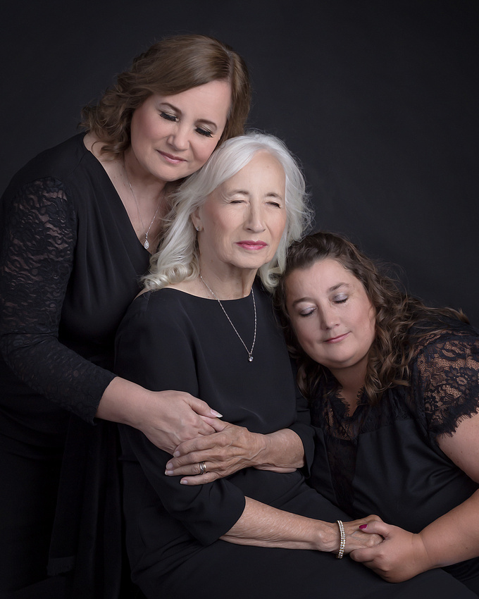 3 generation of women photo
